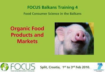 Organic Food Products And Markets - Focus-Balkans