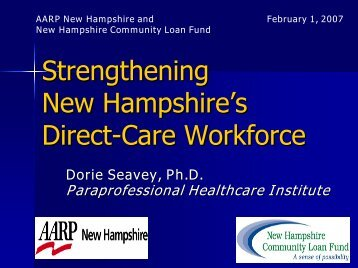 Strengthening New Hampshire's Long-Term Care Workforce - PHI