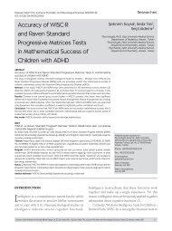 Accuracy of WISC-R and Raven Standard ... - Düşünen Adam