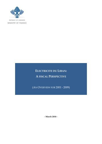 electricite du liban: a fiscal perspective - Ministry of Finance