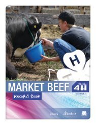 Market Beef Record Book - Agriculture and Rural Development