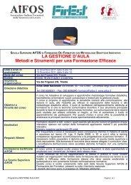 Programma del corso Gestione d'Aula