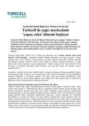 Turkcell ile çağrı merkezinde 'yapay zeka' dönemi ... - Global Bilgi