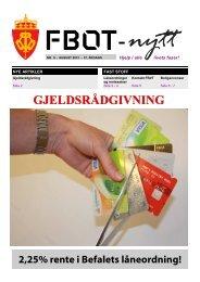 FBOT-nytt august 2013 - Forsvaret