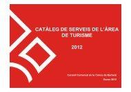 Catàleg de serveis - Conca de Barberà