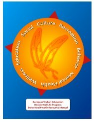 Behavioral Health Resource Manual - Bureau of Indian Education