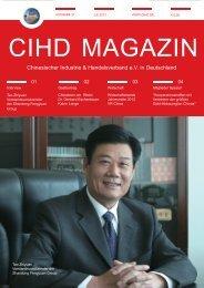 CIHD Magazin 21 07/2013 - Chinesischer Industrie- und ...