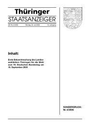 Thüringer - Wahlen in Thüringen