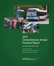 2010 Comprehensive Annual Financial Report - Community Transit