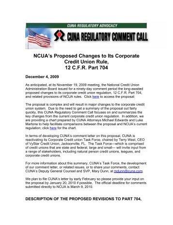 CUNA Breakdown of Corporate Reg - New Jersey Credit Union ...
