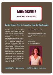 SAMSTAG 29. November 14:00-16:30Uhr 35.-Euro