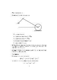 Esercitazione II Manovellismo ordinario deviato O A B Dati del ...