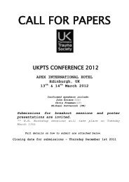 13TH ANNUAL CONFERENCE NOTA 2003 - ukpts