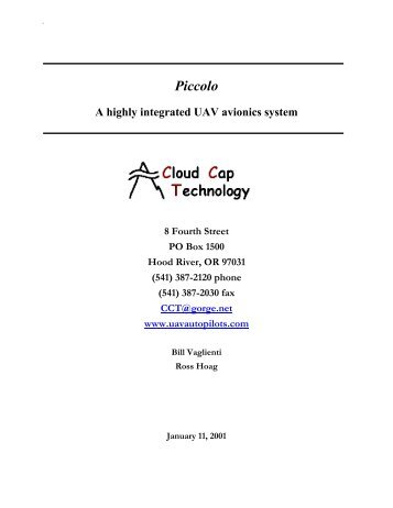 Piccolo integrated UAV avionics system - Unmanned Aircraft & Drones