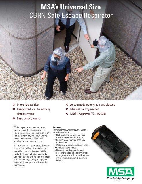 MSA's Universal Size CBRN Safe Escape Respirator - Scene7