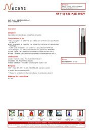 NF F 55-625 (K25) 1800V - Nexans