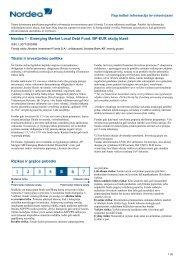 Pagrindinė informacija investuotojams - Nordea Bank Lietuva