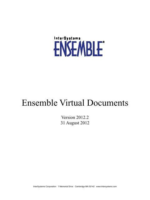 Ensemble Virtual Documents - InterSystems Documentation
