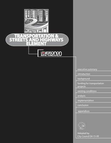 Transportation & Streets and Highways Element - City of Las Vegas