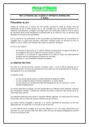 Présentation du Prix littéraire - Arald