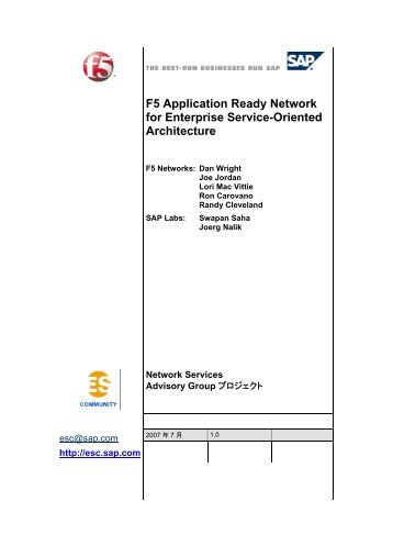 F5 Application Ready Network for Enterprise Service-Oriented ...