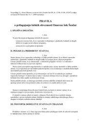 Pravila o prilagajanju - Osnovna šola Šenčur