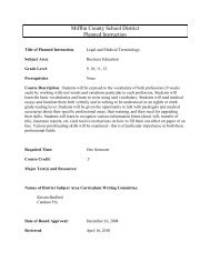 Business Education Department Planned Instruction - Mifflin County ...