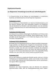 Ergänzende Hinweise zur Allgemeinen Verwaltungsvorschrift zum ...