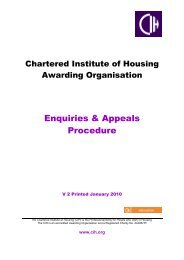 Enquiries and appeals procedure - Chartered Institute of Housing