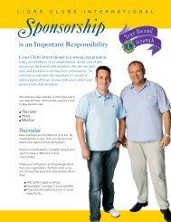 Member sponsors - Lions Clubs International