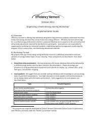 Organizing A Home Energy Saving Workshop - Efficiency Vermont