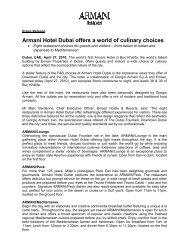 Armani Hotel Dubai offers a world of culinary choices - Kurtz-Ahlers ...