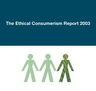 The Ethical Consumerism Report 2003 - The Co-operative