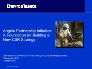 Angola Partnership Initiative: A Foundation for Building ... - CommDev