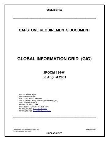 Global Information Grid (GIG) Capstone ... - AcqNotes.com