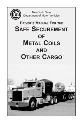 safe securement of metal coils and other cargo - DMV - New York ...