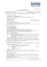 Seite: 1/6 Sicherheitsdatenblatt gemäß 1907/2006/EG ... - Carlofon