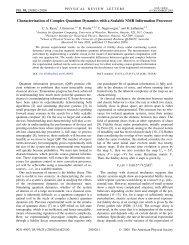Characterization of Complex Quantum Dynamics with a ... - EPIQ