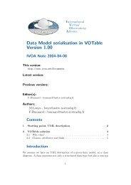 Data Model serialisation in VOTable Version 1.00 - IVOA