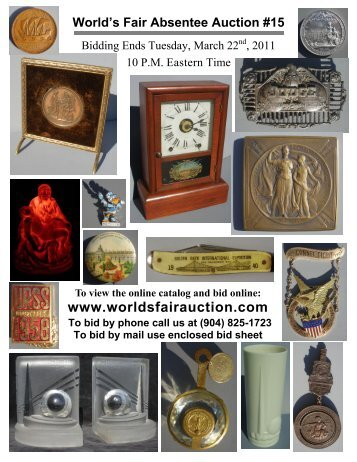World's Fair Auction - Catalog - Real Time Auction Method