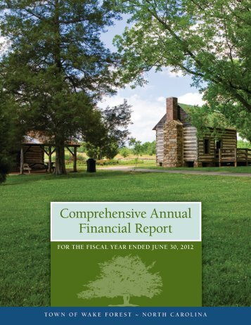 Comprehensive Annual Financial Report - Town of Wake Forest, NC