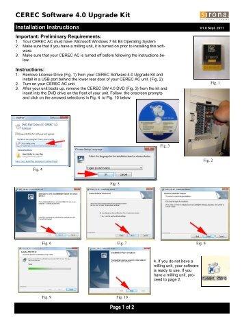 CEREC 4.0 Installation Instructions