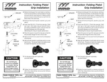 Folding Pistol Grip Installation - Task Force Tips