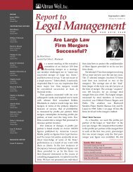 Are Large Law Firm Mergers Successful? - Altman Weil