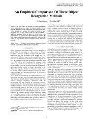 An Empirical Comparison Of Three Object Recognition Methods