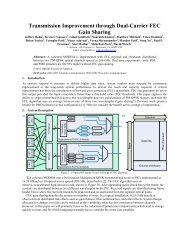Transmission Improvement through Dual-Carrier FEC Gain ... - Infinera
