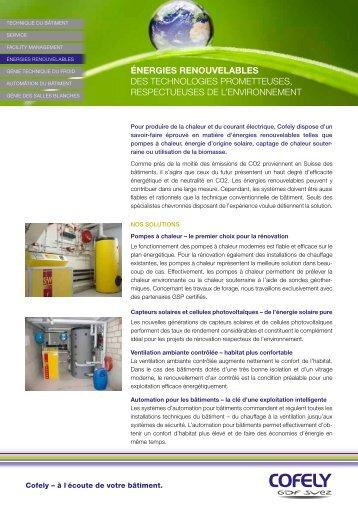 énergies renouvelables des technologies prometteuses ...