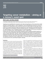 Targeting cancer metabolism – aiming at a tumour's sweet-spot