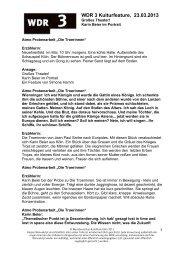 Karin Beier im Porträt. (PDF-Download: 203,2 KB) - WDR 3