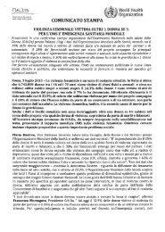 Il comunicato dell'Osservatorio nazionale sulla salute della donna